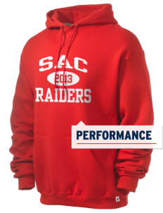 Sac Community High School Indians Russell Men's Dri-Power Hooded Sweatshirt