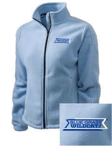 Blue Grass Elementary School Wildcats Embroidered Women's Fleece Full-Zip Jacket