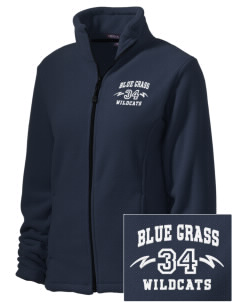Blue Grass Elementary School Wildcats Embroidered Women's Wintercept Fleece Full-Zip Jacket