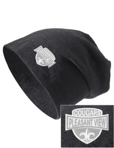 Pleasant View Elementary School Cougars Embroidered Slouch Beanie
