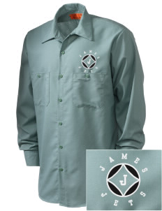James Elementary School Jets Embroidered Men's Industrial Work Shirt - Regular