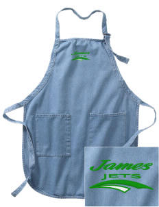James Elementary School Jets Embroidered Full-Length Apron with Pockets