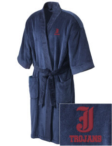 Johnson Elementary School Trojans Embroidered Terry Velour Robe