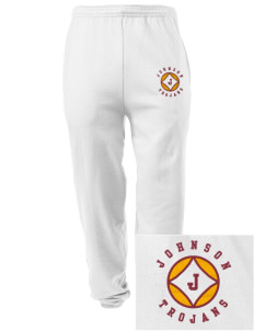Johnson Elementary School Trojans Embroidered Men's Sweatpants with Pockets