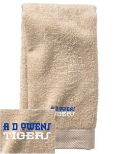 A D Owens Elementary School Tigers  Embroidered Zero Twist Resort Hand Towel