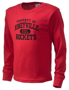 Rineyville Elementary School Rockets  Kid's Long Sleeve T-Shirt