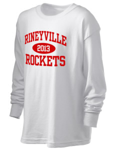 Rineyville Elementary School Rockets Kid's 6.1 oz Long Sleeve Ultra Cotton T-Shirt