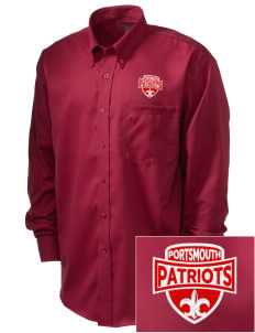 Portsmouth High School Patriots  Embroidered Men's Nailhead Non-Iron Button-Down