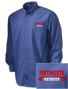 Portsmouth High School Patriots  Embroidered Men's Easy Care, Soil Resistant Shirt