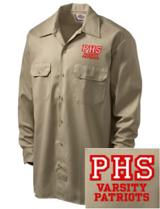 Portsmouth High School Patriots Embroidered Dickies Men's Long-Sleeve Workshirt