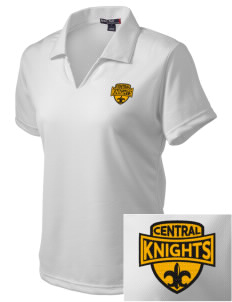 Central High School Knights Embroidered Women's Dri Mesh Polo