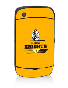 Central High School Knights Black Berry 8530 Curve Skin