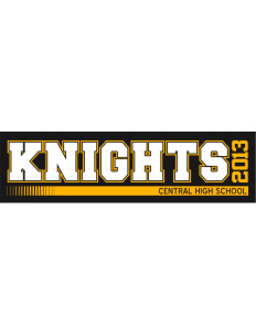 "Central High School Knights Bumper Sticker 11"" x 3"""