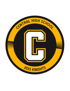 Central High School Knights Sticker
