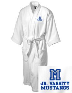 Metcalf Elementary School Mustangs Embroidered Terry Velour Robe
