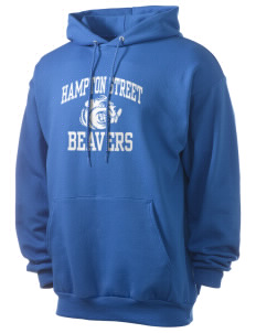 Hampton Street Elementary School Beavers Men's 7.8 oz Lightweight Hooded Sweatshirt