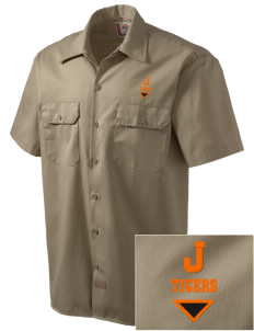 Jonesborough Elementary School Tigers Embroidered Dickies Men's Short-Sleeve Workshirt