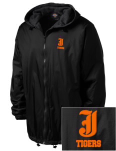 Jonesborough Elementary School Tigers Embroidered Dickies Men's Fleece-Lined Hooded Jacket