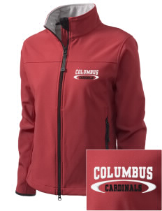 Columbus Elementary School Cardinals Embroidered Women's Glacier Soft Shell Jacket
