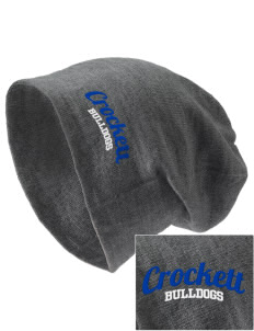 Crockett Elementary School Bulldogs Embroidered Slouch Beanie