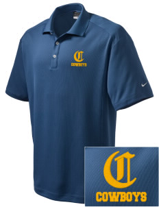 Crook County High School Cowboys Embroidered Nike Men's Dri-Fit Classic Polo