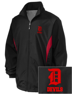 Lundy Elementary Middle School Devils Embroidered Holloway Men's Full-Zip Jacket