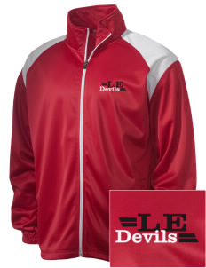 Lundy Elementary Middle School Devils Embroidered Men's Tricot Track Jacket
