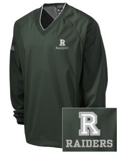 Reynolds High School Raiders Embroidered adidas Men's ClimaProof V-Neck Wind Shirt
