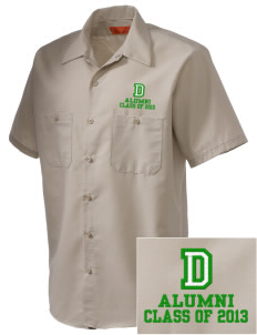 Davis Elementary School Dragons Embroidered Men's Cornerstone Industrial Short Sleeve Work Shirt