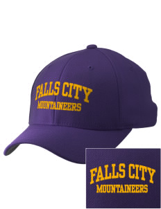 Falls City Elementary School Mountaineers Embroidered Pro Model Fitted Cap