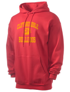 Clifford Dible Elementary School Bulldogs Men's 7.8 oz Lightweight Hooded Sweatshirt