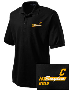 Colfax Elementary School Eagles Embroidered Tall Men's Silk Touch Polo