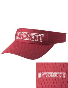 Everett Senior High School Warriors Embroidered Woven Cotton Visor