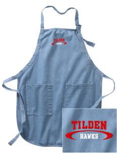 Tilden Elementary School Hawks Embroidered Full-Length Apron with Pockets