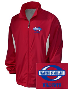 Walter S Miller Elementary School Wildcats Embroidered Holloway Men's Full-Zip Jacket