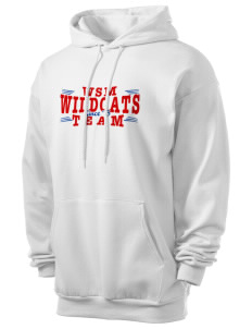 Walter S Miller Elementary School Wildcats Men's 7.8 oz Lightweight Hooded Sweatshirt