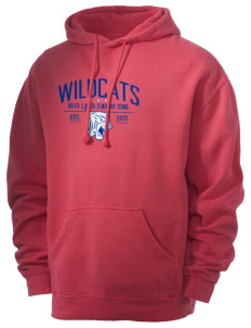 Walter S Miller Elementary School Wildcats Men's 80/20 Pigment Dyed Hooded Sweatshirt