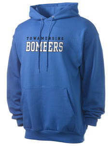 Towamensing Elementary School Bombers Men's 7.8 oz Lightweight Hooded Sweatshirt