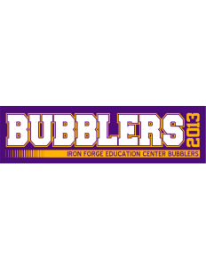 "Iron Forge Education Center Bubblers Bumper Sticker 11"" x 3"""