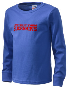 Brownstown Elementary School Buckskins  Kid's Long Sleeve T-Shirt
