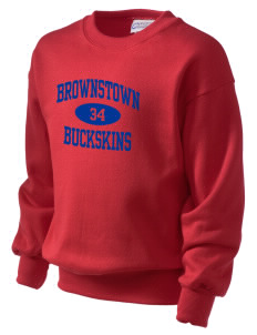 Brownstown Elementary School Buckskins Kid's Crewneck Sweatshirt