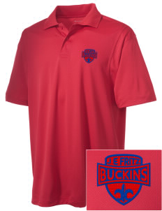 J E Fritz Elementary School Buckins Embroidered Men's Micro Pique Polo