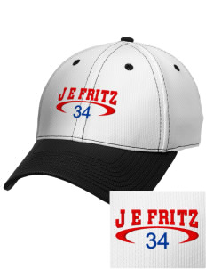 J E Fritz Elementary School Buckins Embroidered New Era Snapback Performance Mesh Contrast Bill Cap