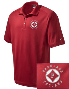 Parkland High School Trojans Embroidered Nike Men's Dri-Fit Classic Polo