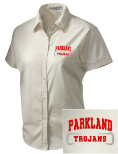 Parkland High School Trojans Embroidered Women's Short Sleeve Easy Care, Soil Resistant Shirt