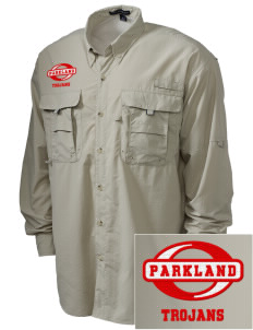Parkland High School Trojans Embroidered Men's Explorer Shirt with Pockets