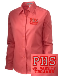 Parkland High School Trojans Embroidered Women's Easy-Care Shirt
