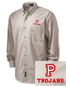 Parkland High School Trojans Embroidered Tall Men's Twill Shirt