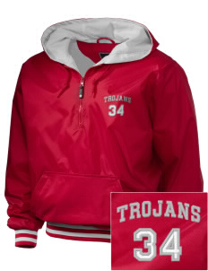 Parkland High School Trojans Embroidered Holloway Men's Duraweav 1/4-Zip Hooded Jacket