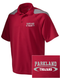 Parkland High School Trojans Embroidered Holloway Men's Frequency Performance Pique Polo